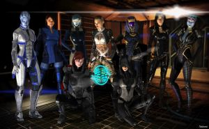 Mass Effect Kick-Ass Girls by Natsumi494