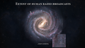 Extent of human radio broadcasts by Eipifi