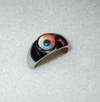 Walking Dead Zombie Eye Ring by Create-A-Pendant
