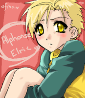 Alphonse Elric XD by Tomo-curious-kat