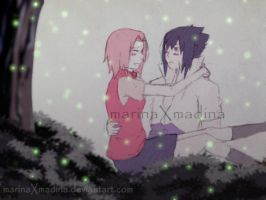 SasuSaku: The First Kiss by MarinaXMadina