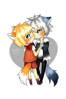 C: Couple Chibis for ninjagare by Jutsika