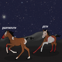Dartmouth and Seth - discovering the stars by JackythePainter