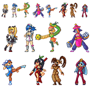 [R] Pixel Day requests: Fighting game girl edition by Blackhook