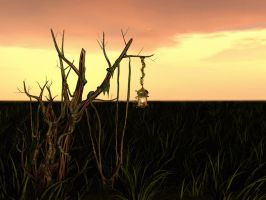 Premade 3d Sunset by RedHeadLilith