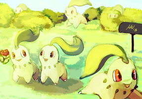Chikorita Field by Tropiking
