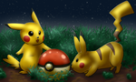Pikachus with Pokeball by EgyptianDragon1