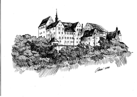 Schloss Colditz by TarontPainter
