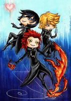 KH: Days Trio by evilitachi