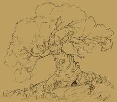 Knobbly-Tree Sketch by albundyland