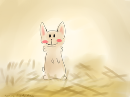 Smiley Rabbit by Stressed-Panda