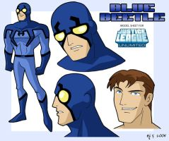 Blue Beetle on the JLU by Eji