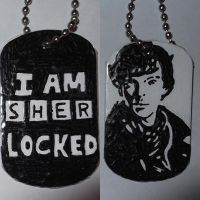 Sherlock dog tag by BossHossBones