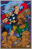 thor vs Ulik by gammaknight