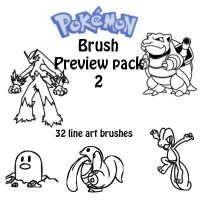 Pokemon Brushes Preview pack 2 by Desicat674