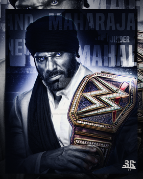 Jinder Mahal - WWE Champion by WWESlashrocker54