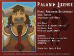 Anoximon Paladin License by kyoht