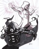 Commish-Eclipse + White Knight by DavidFernandezArt