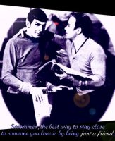 Kirk and Spock by M0rwenn4