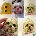 polymer clay magnet - Peaches by Ladybird18