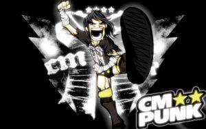wwe,CM Punk Cartoon by Gogeta126