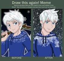 Before and After Jack Frost by ColorSplashArts