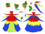 Macaw Dress Design by Eranthe