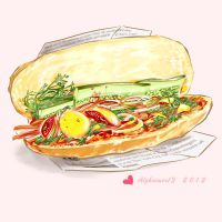 YELLOW - Vietnamese sandwich by Alzheimer13