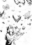 Sofia and the butterflies by mepol