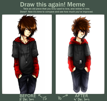 Draw This Again Meme by 13r-e