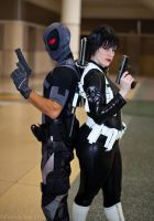 Deadpool and Maria Hill by hiddentalent1
