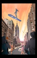 The Silver Surfer Arrives by Theamat