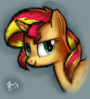 Sunset Shimmer by Galaxyart
