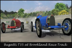 Bugatti T35 at Brookland by bhippy