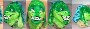 Foo dog head by ArtSlavefursuits