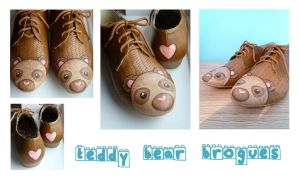 Teddy Bear Brogues by ponychops