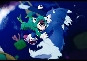 The Frogman Vs. The Werehog by JoeAdok