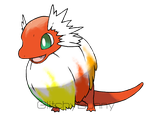 Color smear fakemon by GlitchyBunny