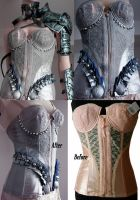 Before and After corset re-styling by Pinkabsinthe