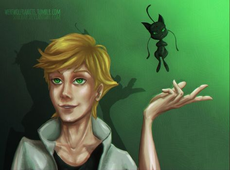 Adrien and Plagg by Suichah