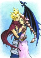 KH Cloud and Aerith 2 by AnAngelkiss