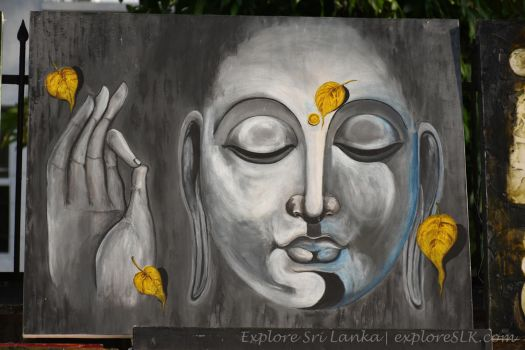 Painting of Lord Buddha by exploreSLK