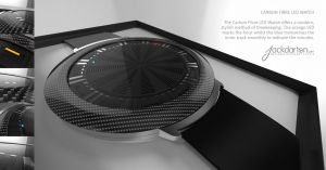 Carbon Fibre LED Watch by jackdarton