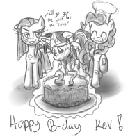 Happy Birthday Kev by leadhooves