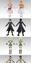 Sword Art Online model pack 2 by ChocoKobato