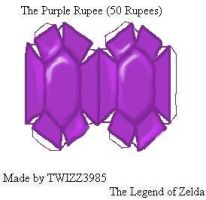 Purple Rupee Papercraft by Twizz3985