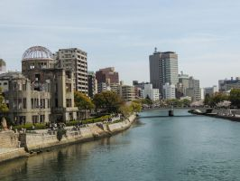 Hiroshima A-bomb Dome by thecomingwinter