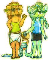 beach babes by snapple-bee