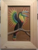 rainbow toucan by Dracophilia