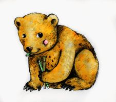 Bear with stabilo markers. by Pedobearq